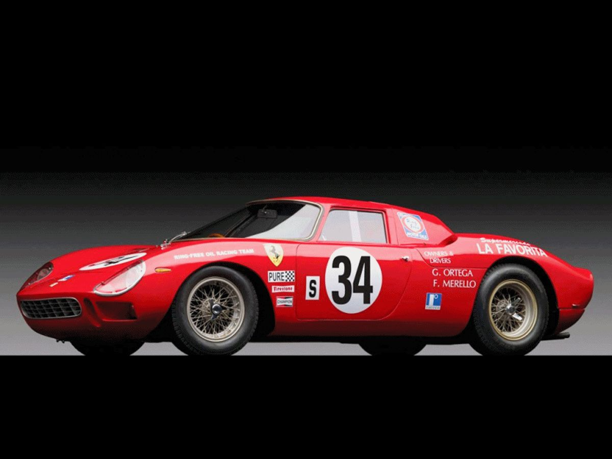 1964 Ferrari 250 LM by Carrozzeria Scaglietti ANIMATED GIF9988