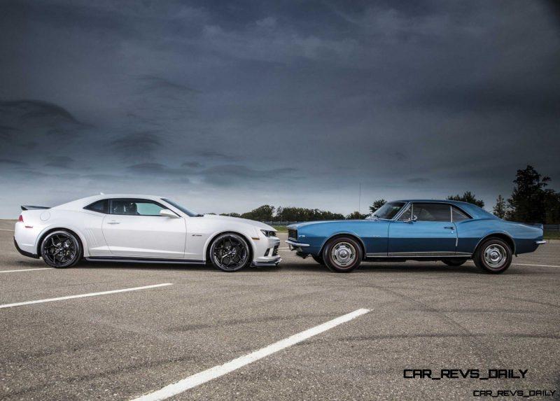 2014 and 1967 Chevrolet Camaro Z28
