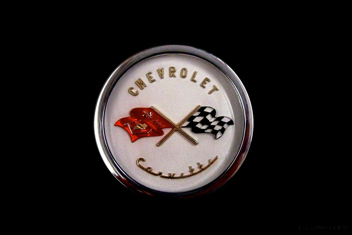 1953 Corvette Crossed Flag Logo