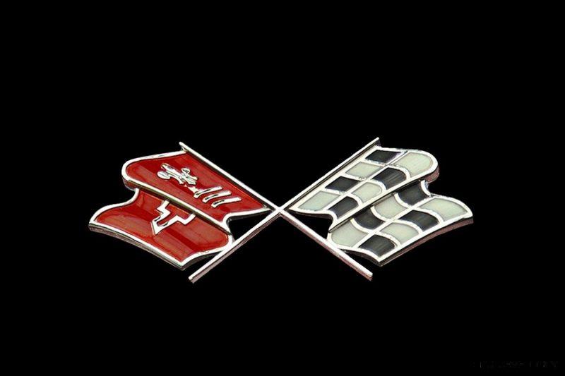 1972 Corvette Crossed Flag Logo