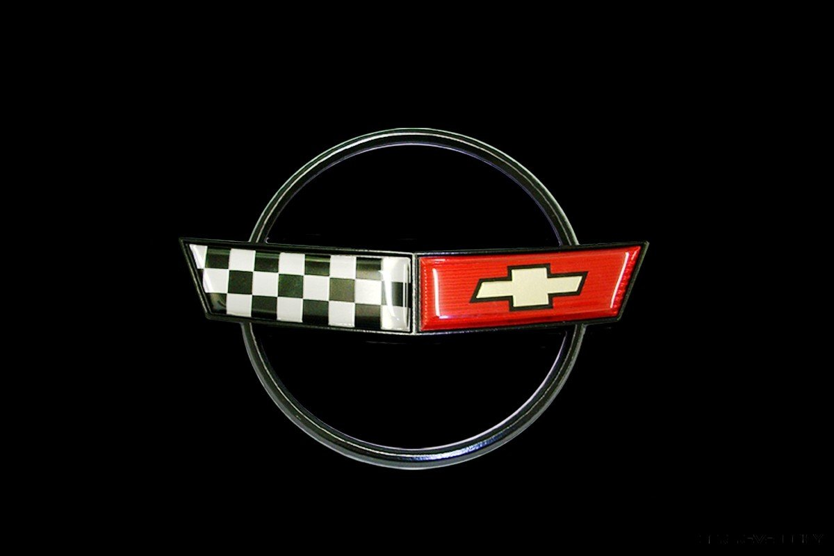 1984 Corvette Crossed Flag Logo