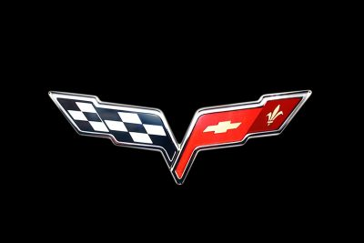 2005 Corvette Crossed Flag Logo
