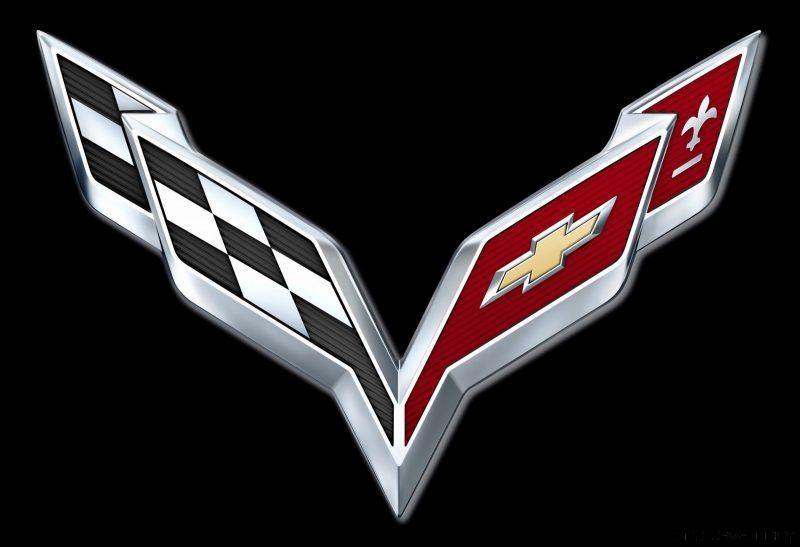 2014 Corvette Crossed Flag Logo