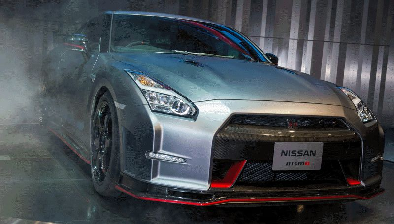 2015 Nissan GT-R Debut - Animated GIF
