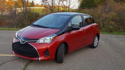 Toyota Yaris front fascia angle