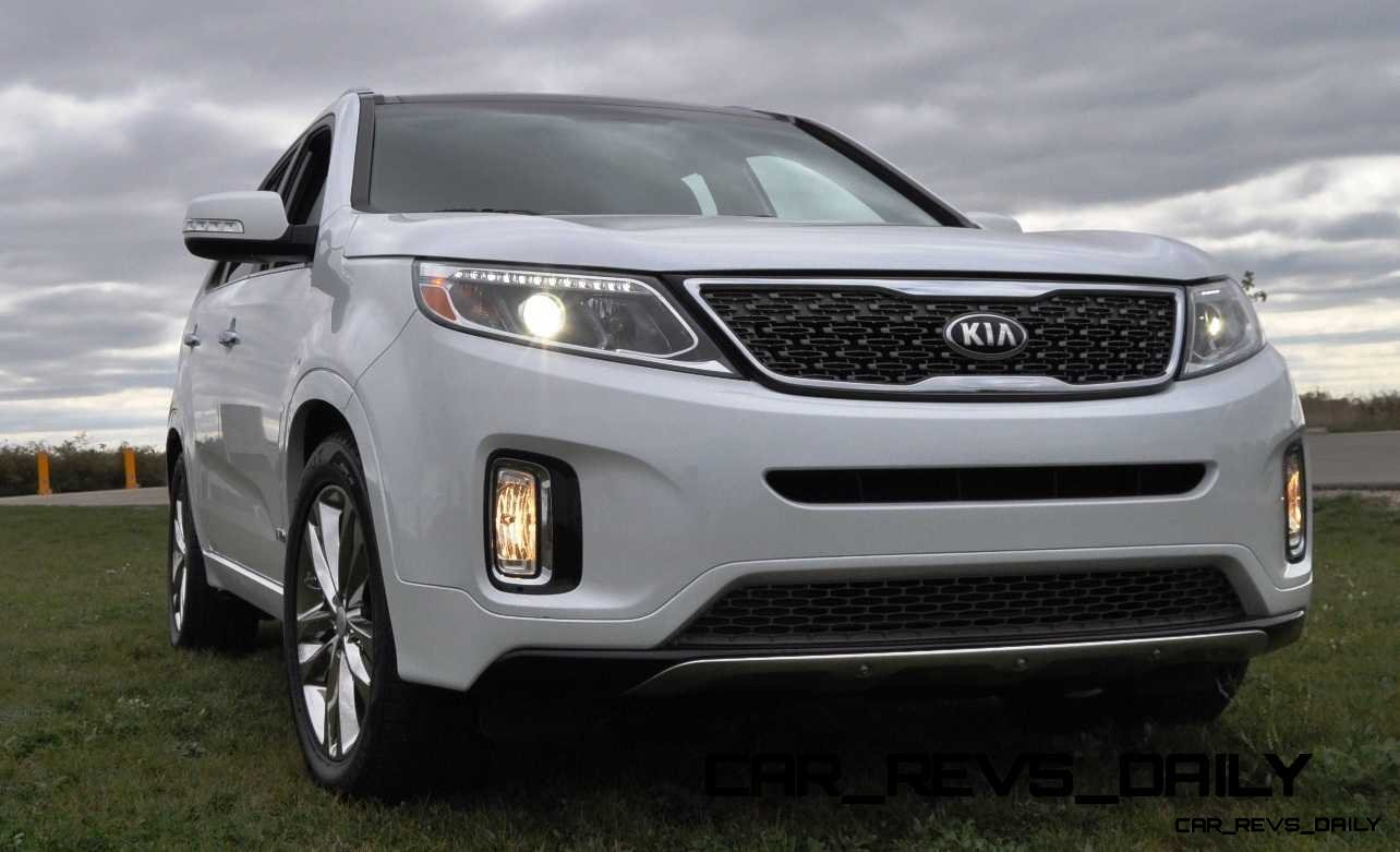 driven review 2014 kia sorento sx l feels lux inside but steering is very unusual car revs. Black Bedroom Furniture Sets. Home Design Ideas