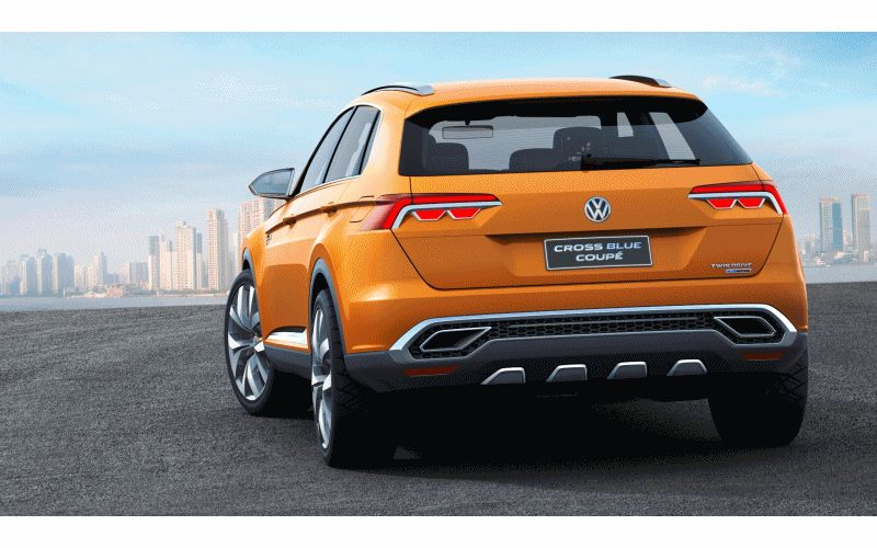 Hottest LA Debuts VW CrossBlue Coupe - Concept GIF
