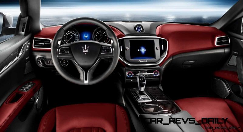 Maserati ghibli red interior