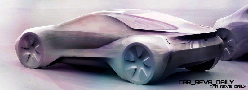 Design sketch BMW BMW i8