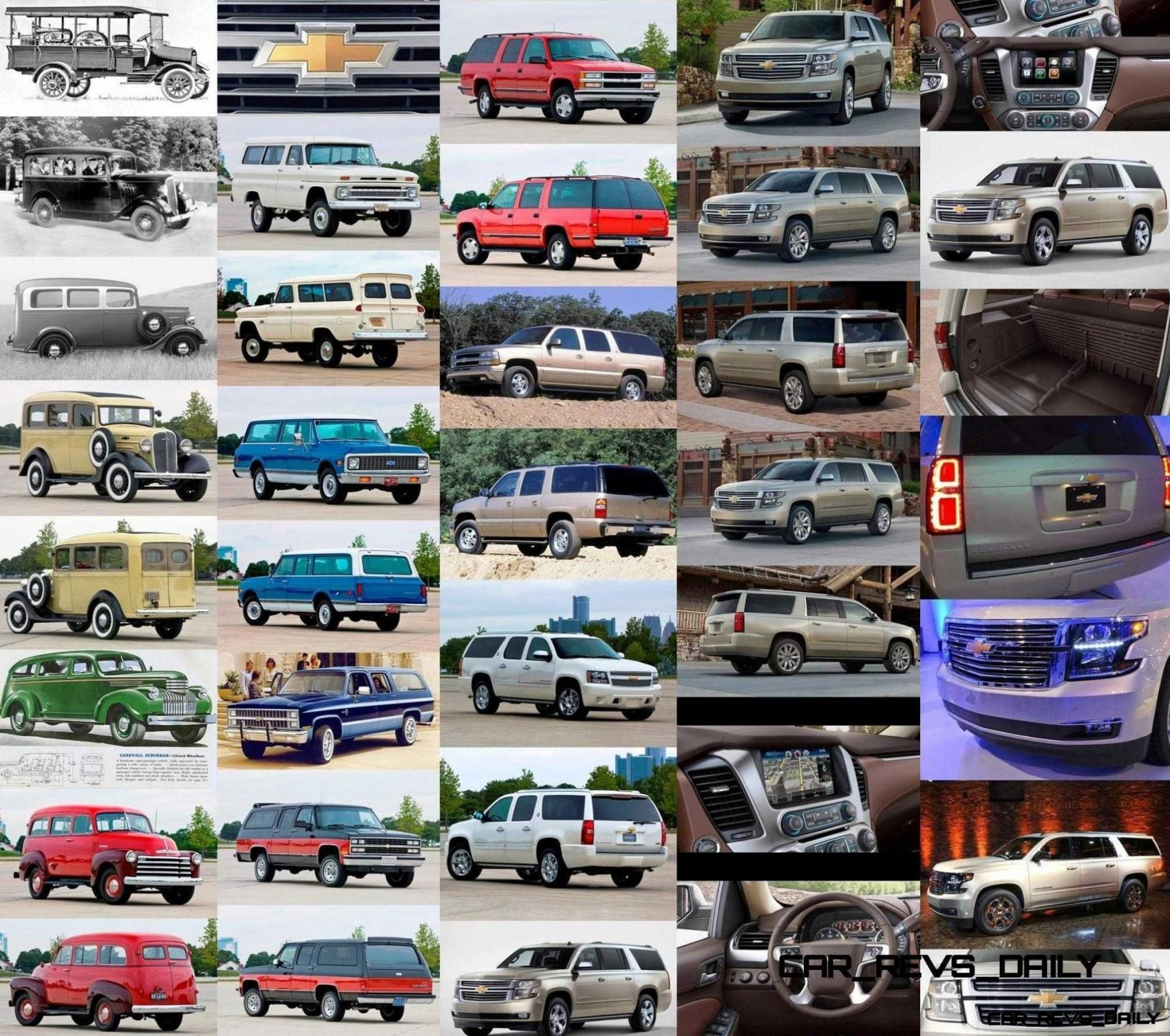 Wallpaper and Poster of 1915 - 2015 Chevrolet Suburban's Evolution!