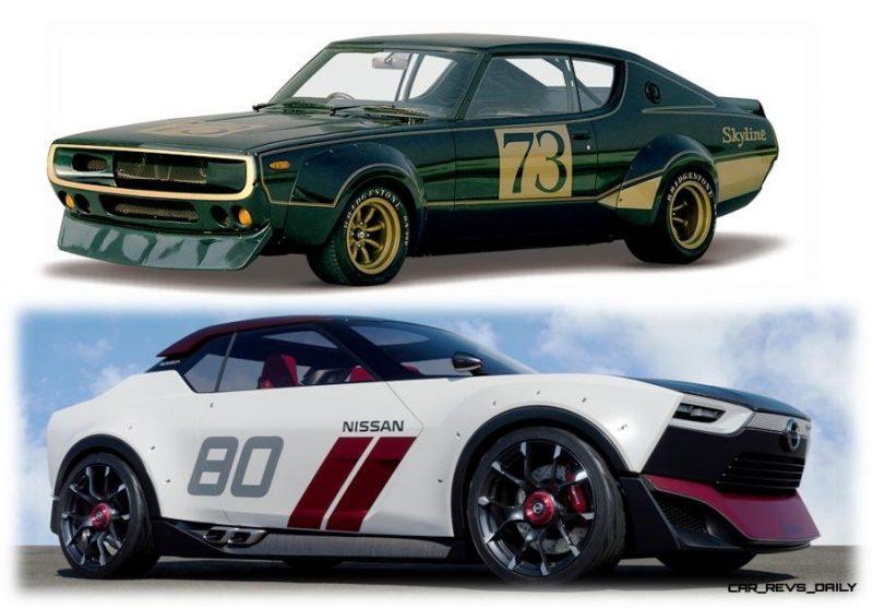 1972Skyline2000GTR and Nissan IDx NISMO Concept