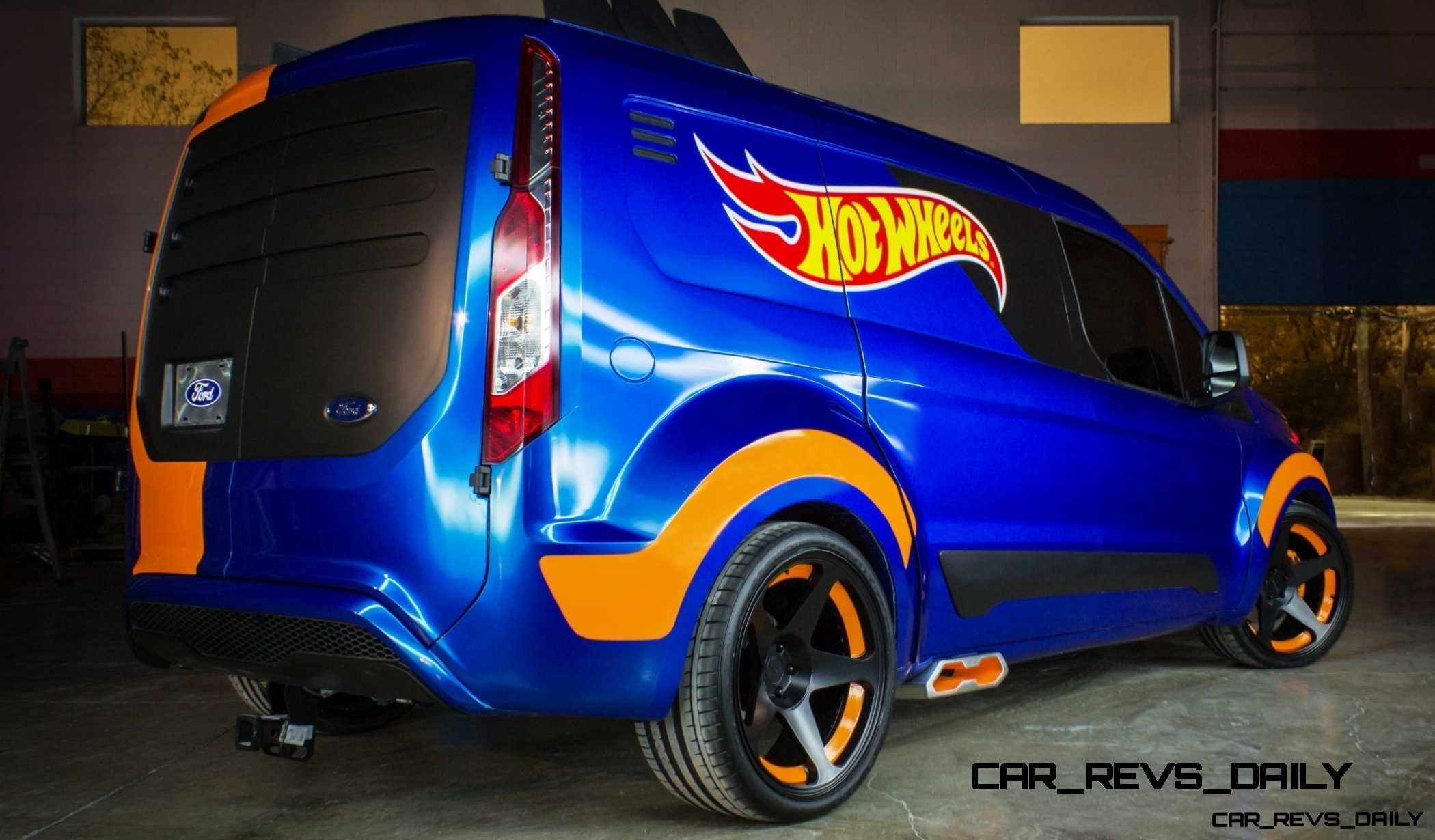 fords 2014 transit connect sizzles for sema courtesy of hot wheels - Ford Transit Connect Custom 2015