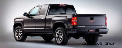 2014 GMC Sierra All Terrain Double Cab Rear Three Quarter in Iridium Metallic - Studio