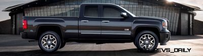 2014 GMC Sierra All Terrain  Double Cab Side Profile in Iridium Metallic - on location