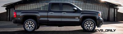 2014 GMC Sierra All Terrain  Double Cab Side Profile in Iridium Metallic - on location