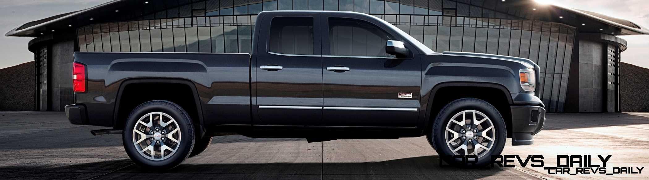 2014 gmc sierra all terrain double cab side profile in iridium metallic on location. Black Bedroom Furniture Sets. Home Design Ideas