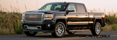 2014 GMC Sierra Denali Crew Cab Front Three Quarter in Onyx Black - Santa Barbara