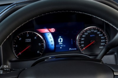 2014 GMC Sierra Denali Eight-Inch Reconfigurable Instrument Cluster