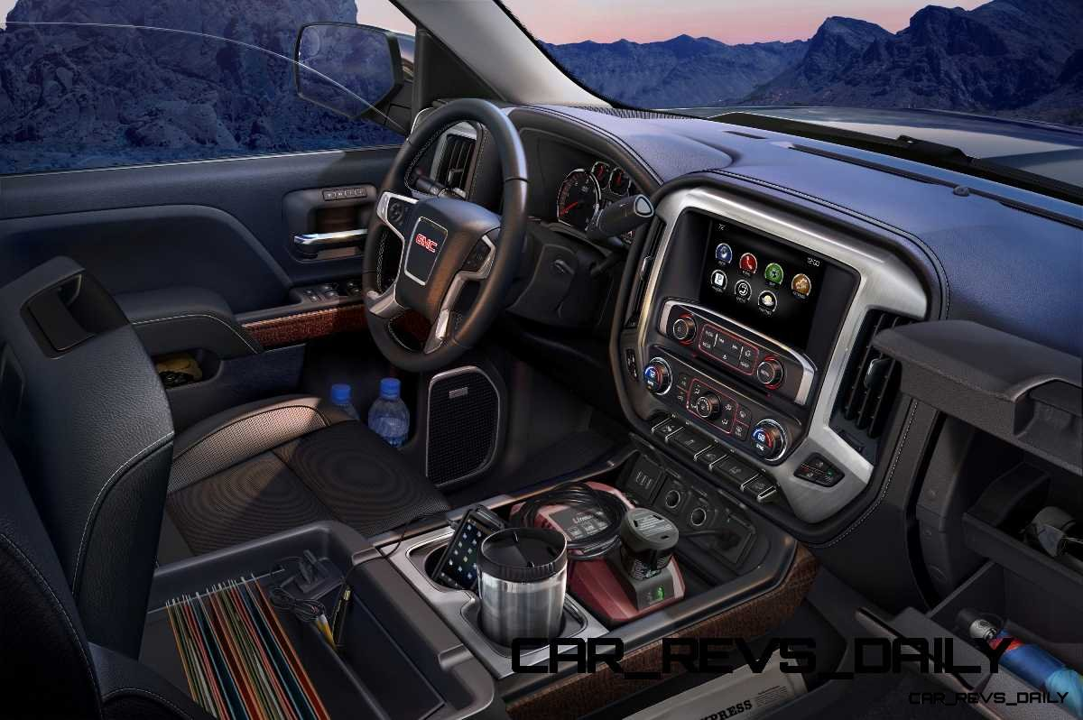 2014 gmc sierra slt interior detail - 2015 gmc sierra interior accessories ...