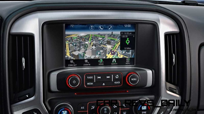 2014 GMC Sierra SLT Interior Color Touch Radio with Navigation detail