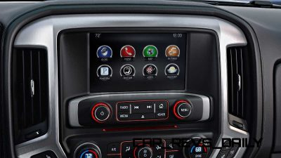 2014 GMC Sierra SLT Interior Color Touch Radio with IntelliLink detail
