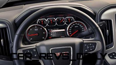2014 GMC Sierra SLT Interior Instrument Panel close up