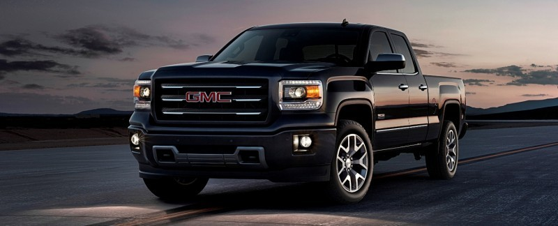 2014 GMC Sierra All Terrain Double Cab Front Three Quarter in Iridium Metallic - on location