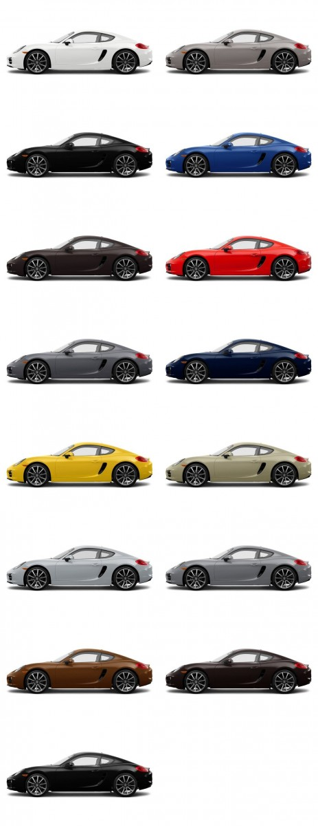2014 Porsche Cayman COLORS 1-tile