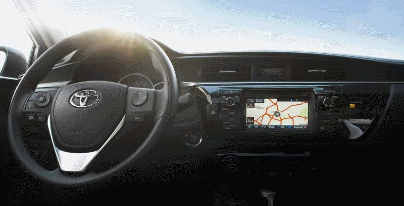 2014 Toyota Corolla interior Animated GIF
