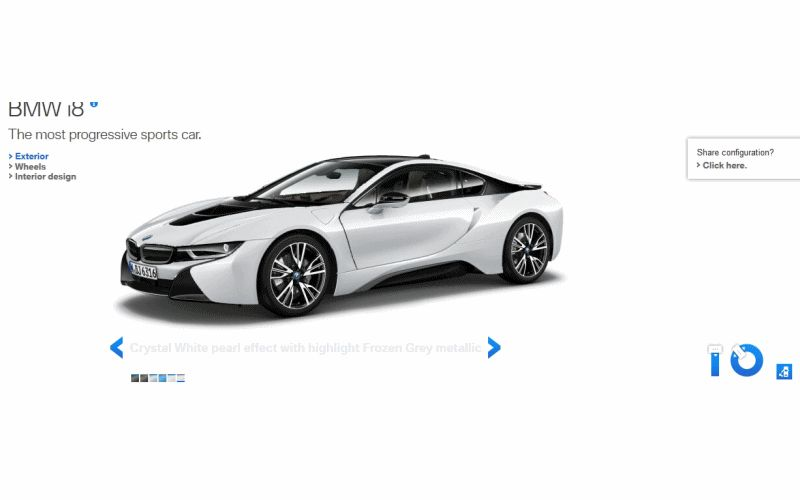 2015 BMW i8 in White GIF Doors
