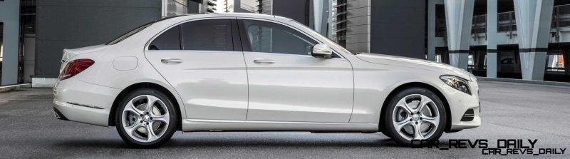 Mercedes-Benz C 250 BlueTEC, Avantgarde, Diamantweiss metallic, Leder Seidenbeige, Zierelemente Aluminium, (W205), 2013
