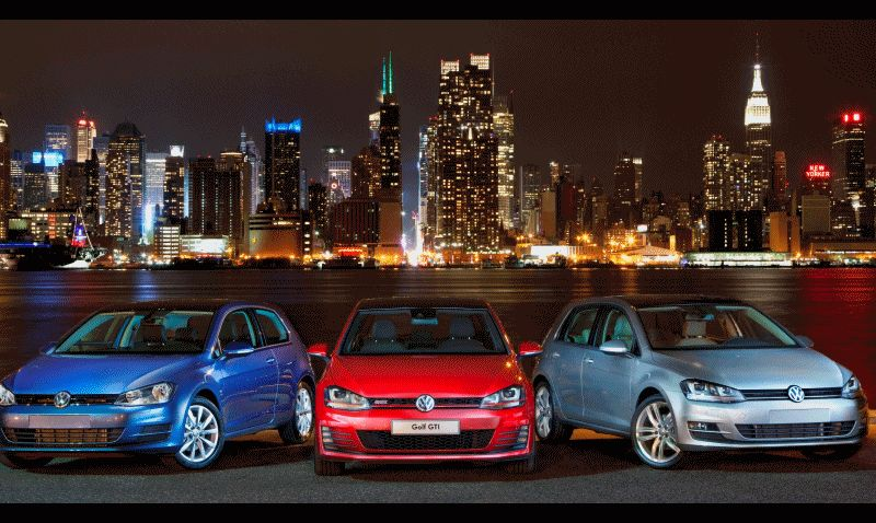 2015 VW Golf TSI 3dr Joins TDI and GTI Animated GIF
