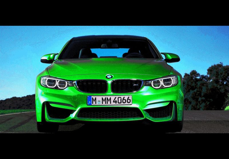 BMW M4 Color Test Animation GIF
