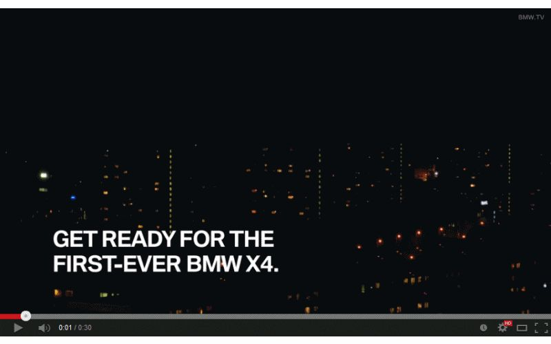 BMW X4 Teaser Animated GIF