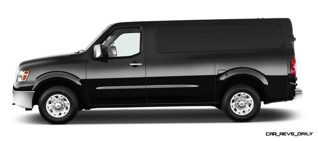 best of awards spy van nissan nv cargo van 2500 hd high roof in super black car revs. Black Bedroom Furniture Sets. Home Design Ideas