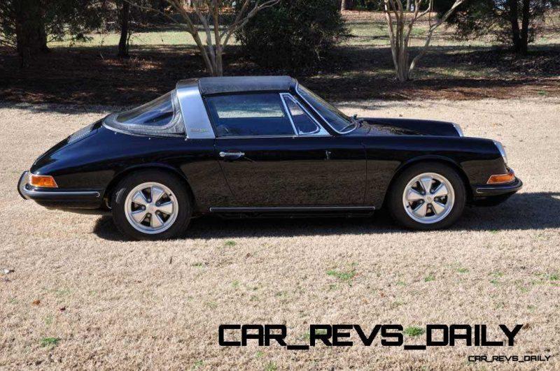Black 1967 Porsche 911S Soft Window TARGA for sale in Raleigh NC 7