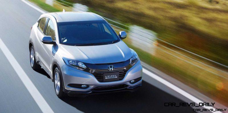 Cool! 2015 Honda Vezel Hybrid Previews Spring 2014 Civic CUV18