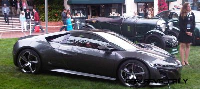 The Acura NSX Concept on the Concept Lawn at the 2013 Pebble Bea