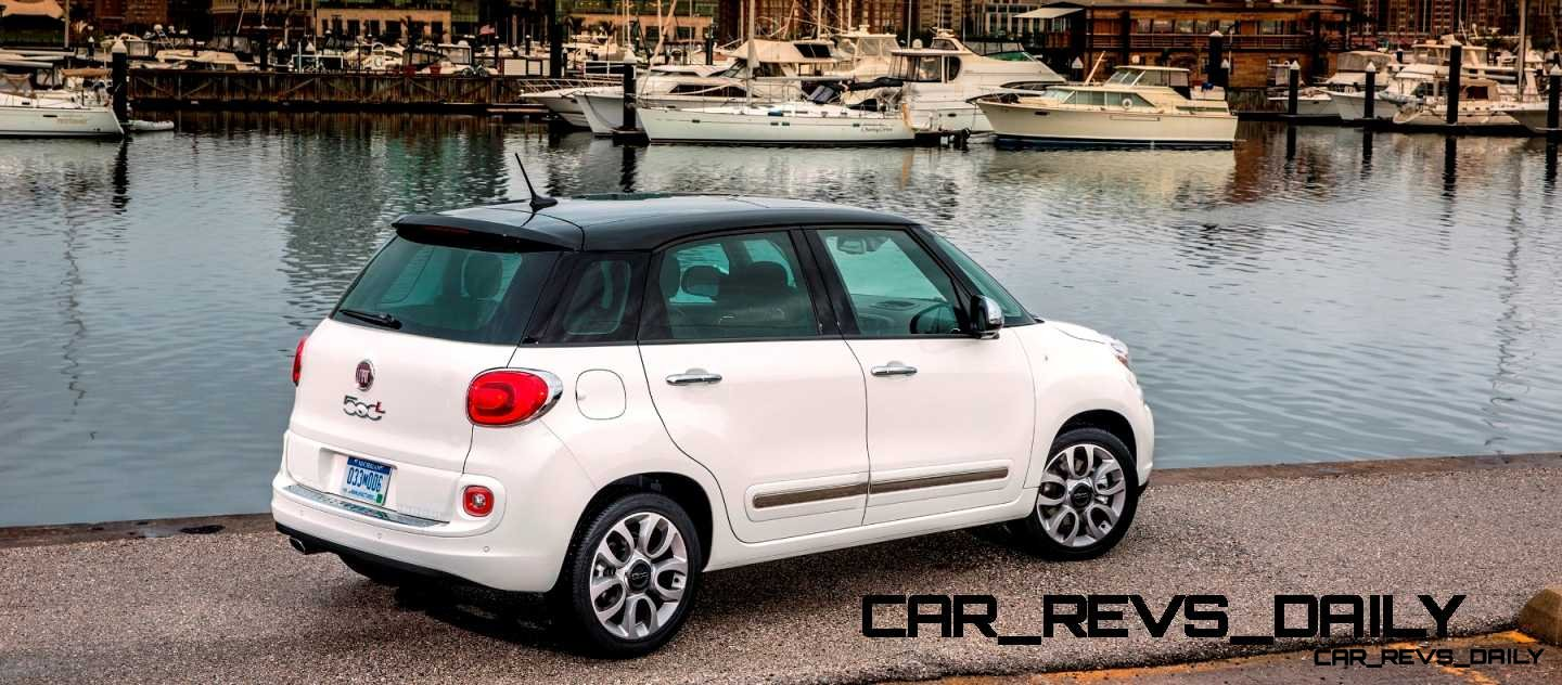 phew latest real life photos show a much cuter 2014 fiat 500l car revs. Black Bedroom Furniture Sets. Home Design Ideas