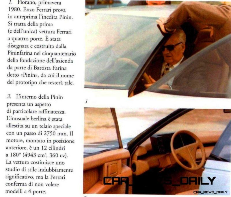 Most Copied 4-Door Never Made - 1980 Ferrari Pinin Concept 18