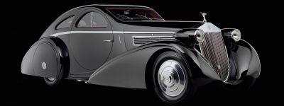 Peterson Auto Museum - 1925 Rolls-Royce Phantom I - 1934 Jonkheere Round Door Aero Coupe 1