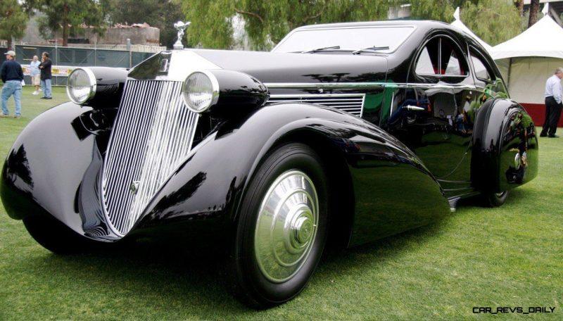 Peterson Auto Museum - 1925 Rolls-Royce Phantom I - 1934 Jonkheere Round Door Aero Coupe 12