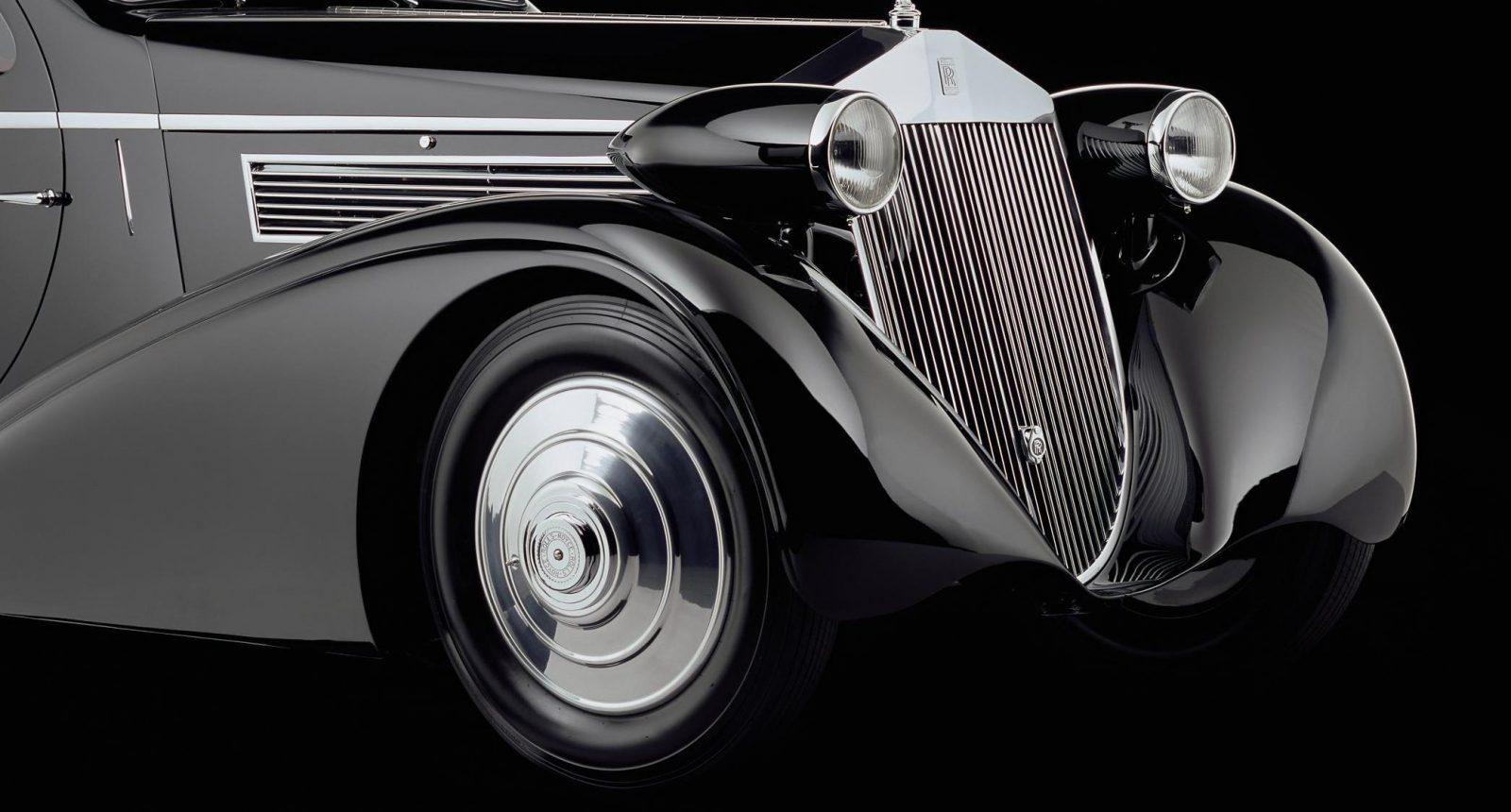 Peterson Auto Museum - 1925 Rolls-Royce Phantom I - 1934 Jonkheere Round Door Aero Coupe 1a