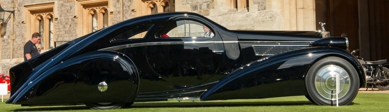 Peterson Auto Museum - 1925 Rolls-Royce Phantom I - 1934 Jonkheere Round Door Aero Coupe 7