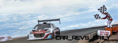 Sebastien Loeb Performs during the Pikes Peak international hill climb race with the Peugeot 208 T16 pikes peak in Colorado, USA,  on June 30th, 2013