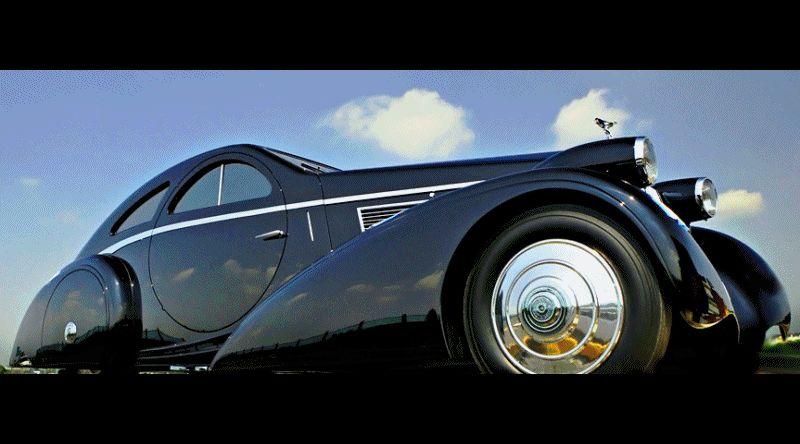 RR 1925-34 Round Door Phantom Coupe ANIMATED GIF