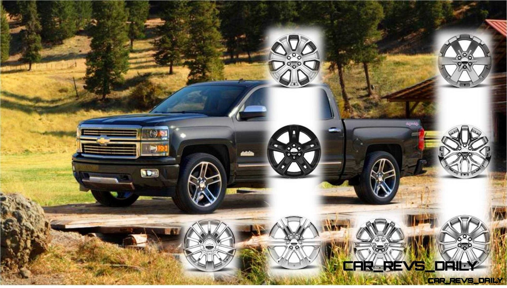 Silverado high country visualizer with all new colors and 22 inch wheels galore