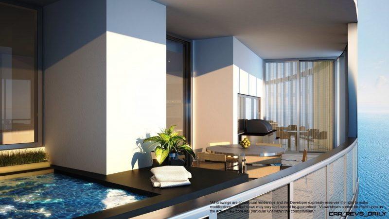 Watch Sharks From Your 50th-Floor Balcony Pool - Porsche Design Tower Miami 36