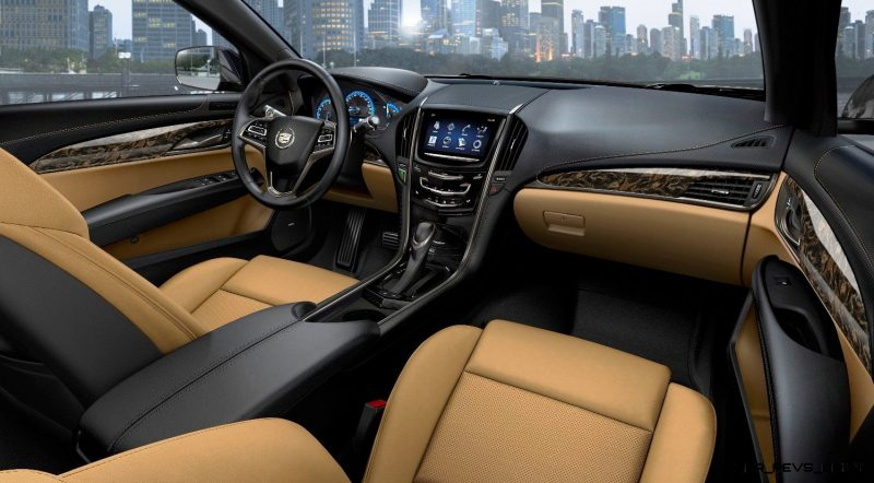 The 2013 Cadillac ATS compact luxury sedan features a driver-focused interior with thoughtfully crafted materials and the intuitively integrated CUE technology, a comprehensive in-vehicle experience that merges intuitive design with auto industry-first controls and commands for information and entertainment data
