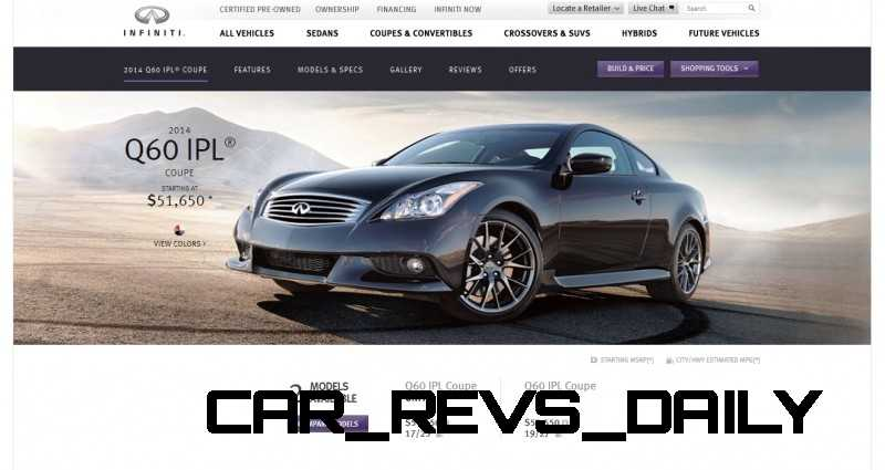 2014 Infiniti Q60 IPL Coupe and Cabrio - Specs, Pricing ...